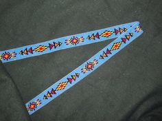 Southwest Beaded Hat Band, Native American Inspired Loom Hatband