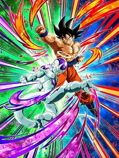 """[End of an Old Grudge] Goku & Frieza (Final Form) (Angel) """"If we don't work together, everything's over!"""" """"Don't order me! Dbz, Dragon Ball Z, Bardock Super Saiyan, Z Warriors, Bling Wallpaper, Online Anime, Son Goku, Types Of Art, Fan Art"""