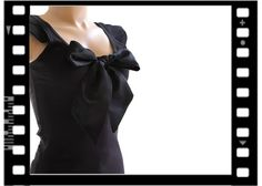 Bow Top Womans Black Retro Valentino Influence By by tratgirl55, $40.00