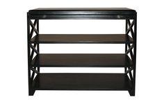 GTAB252B Sutton Criss Cross Side Table Black W 36 D 18 H 30 #3Foot #LowShelving
