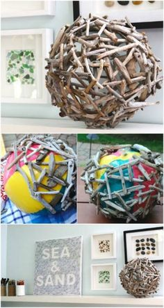 40 Borderline Genius Glue Gun Projects That Will Enchant Your Life – Laura G. 40 Borderline Genius Glue Gun Projects That Will Enchant Your Life Create an orb out of driftwood. Glue Gun Projects, Glue Gun Crafts, Craft Projects, Garden Projects, Project Ideas, Projects To Try, Cool Diy Projects, Driftwood Projects, Driftwood Art