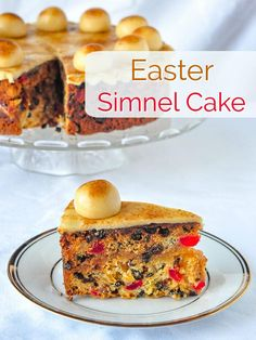 A British Easter tradition. A light fruitcake with a layer of marzipan baked into the centre, then topped with a traditional marzipan decoration. Easter traditions Simnel Cake - a British Easter tradition. Rock Recipes, Beef Recipes, Cake Recipes, Dessert Recipes, Desserts, Salad Recipes, Marzipan, Easter Traditions, Holiday Traditions