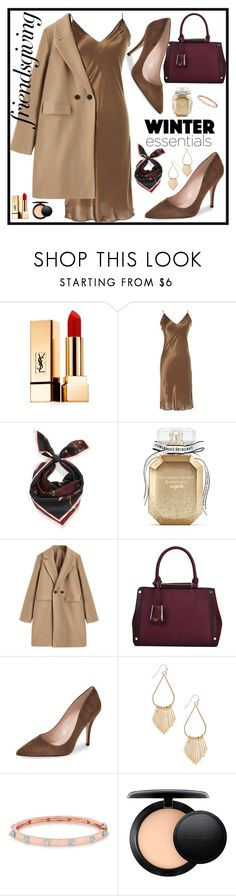 """""""Thanksgiving Day"""" by sunny-chen-2 ❤ liked on Polyvore featuring Yves Saint Laurent, Lanvin, Vince Camuto, Victoria's Secret, Dune, Anne Sisteron and MAC Cosmetics"""