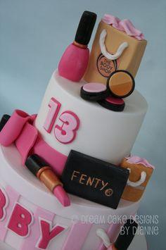 'LIBBY' ~ 2 TIER DESIGNER MAKE UP & DESIGNER BAGS Dream Cake, Centre Pieces, Designer Bags, Celebration Cakes, Celebrity Weddings, Cake Designs, Luxury Wedding, Birthday Cakes, Fondant
