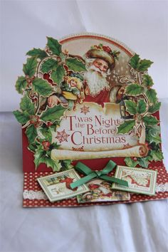 I have so many cards waiting to be shown, but we have to return to Christmas otherwise Christmas will be over! So, for a few days I will flood my blog with all things Christmas, and then we will pu...