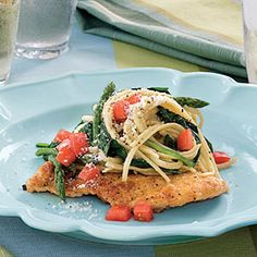 Chicken Scaloppine With Spinach and Linguine | MyRecipes.com