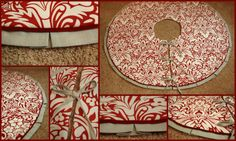 Step by step tutorial for making this DIY Christmas tree skirt.  Maven + Maison
