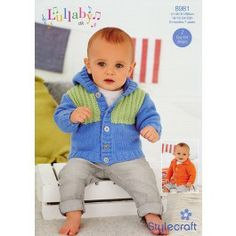 Jackets+in+Stylecraft+Lullaby+DK+(8981)+£2.99