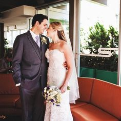 Aliza you were a stunning Eugenia bride! #married #realbrides #lacegown