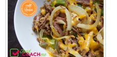 Weight Loss Surgery Recipes. Crockpot Cheese Steak and Peppers. FoodCoachMe.