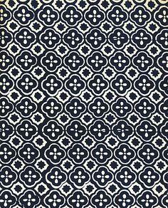 Traditional Slovak Indigo textile print