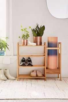 Slide View: 1: Bamboo Entry Way Organizer
