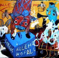 "Saatchi Art Artist Rusudan Khizanishvili; Painting, ""Spring in Circus Alle- Hop"" #art"