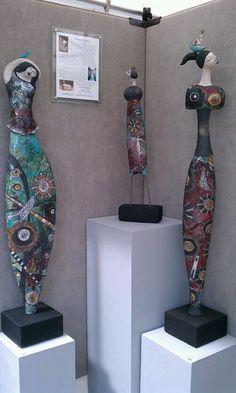 Raku pottery  - i wonder how to make the sculpture stand?