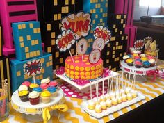 Girl Superhero Party #girlsuperhero #party