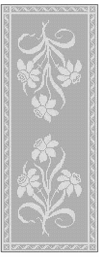easy crochet table runner free to print