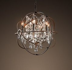 loving this chandelier courtesy of Restoration Hardware...think it's too much for a dining room?