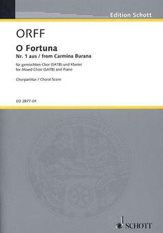 Carl Orff: O Fortuna Carl Orff, Chor, Piano, Musica, Pianos