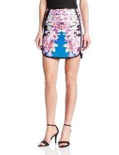 Cynthia Rowley Women's Lei Print Bonded Slim Skirt