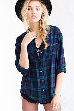 BDG Tartan Plaid Button-Down Shirt - Urban Outfitters