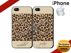 Best Friends iPhone Cases. #infinity #leopard print #tanbrown