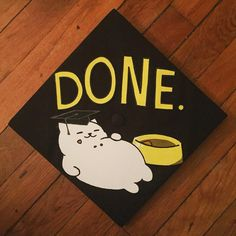 Oh, Tubbs. Always hogging all the food. | Love this #MyVCUcap by VCU 2016 psychology senior @paulinedyc! | Graduation Cap Decoration Idea | Neko Atsume
