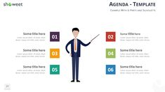 Table of Contents Agenda PowerPoint and Keynote Template - Editable Silhouette