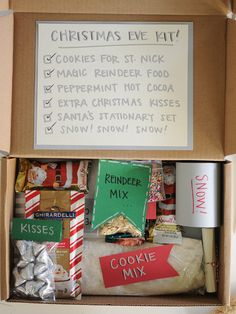 Such an adorable care package!! Send a Christmas Eve Kit for Kids.