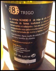El Alma del Vino.: Cervezas : Cerveza Artesanal Trigo Número 8 Edición Limitada.