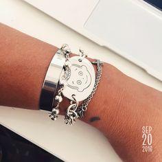 www.ottoandotta.com 925pure Silver bracelet ! Made to last forever ! Jewelry Collection, Jewels, Bracelets, Silver, Handmade, Hand Made, Bijoux, Money, Gemstones