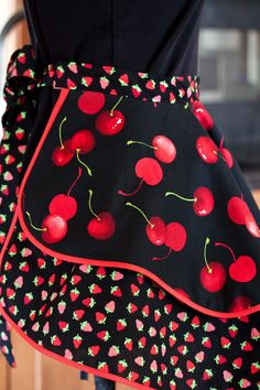 Hey, I found this really awesome Etsy listing at https://www.etsy.com/listing/114587669/berry-cherry-flirty-hostess-half-apron