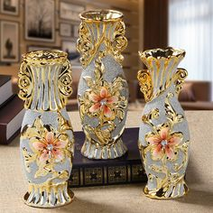 Dry Flower Cabinet Gate Side Cabinet Creative European Resin Vase Decoration Soft Decoration For Living Room Tv Cabinet
