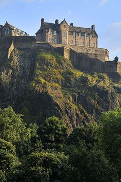 Edinburgh Castle,Edinburgh,Scotland. Went to the Military Tattoo. incredible experience. The lone piper walked the wall playing Scotland the Brave on the bagpipes at night!!