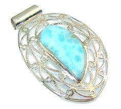 $84.15 Classy Blue Larimar Sterling Silver Pendant at www.SilverRushStyle.com #pendant #handmade #jewelry #silver #larimar