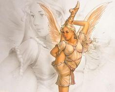 Скачать обои ангел-хранитель 1280x1024