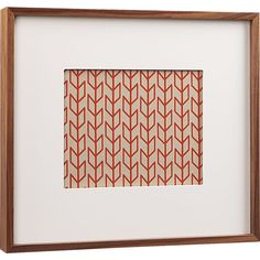 walnut 8x10 box picture frame  | CB2