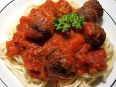 Spaghetti and Notmeatballs made with apple, carrot, beet, and celery veggie juice pulp!