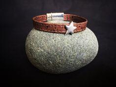 Armband aus Kork Leder mit Magnetverschluss von FrolleinHerzblut