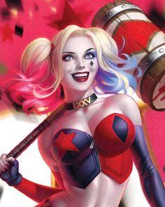 Dc Comics Girls, Comic Art Girls, Dc Comics Art, Marvel Dc Comics, Harley Quinn Drawing, Joker And Harley Quinn, Gotham, Cute Drawlings, Desenhos Cartoon Network