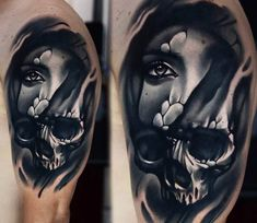Skull Face tattoo by A D Pancho