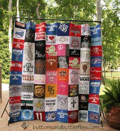 Buttons and Butterflies: Auction T-shirt Quilt