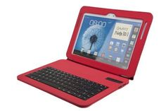 MoKo Bluetooth Keyboard Cover Case for Samsung Galaxy Note 10.1 inch N8000 N8010 N8013 Android Tablet, RED by MoKo, http://www.amazon.com/dp/B00C8T7DHY/ref=cm_sw_r_pi_dp_591wsb0N23T0E
