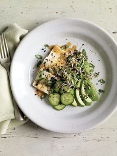 Tofu and Cucumber Salad with Sesame-Ginger Dressing Recipe | Vegetarian Times