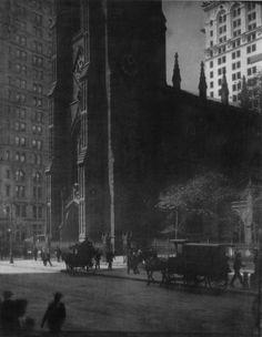 Edward Steichen: Trinity Church, New York, 1904