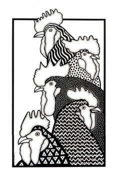 A Collection Of Cockerels by OnePinkGoose, via Flickr, Rooster
