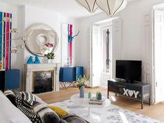 Un piso antiguo renovado al completo: Contrastes cromáticos y diseños sorprendentes son claves de su estética impecable