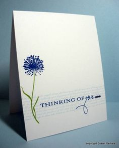 Inspired by Erin Lincoln Take 4  CAS OLC PTI Botanical Silhouettes Text Style thinking of you