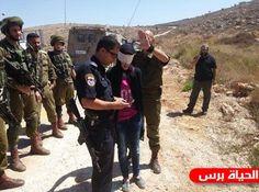 بالصور الاحتلال يعتقل فتاة قرب نابلس بحجة تنفيذ عملية طعن