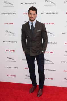 David Gandy at the New Jaguar F TYPE Coupe Launch   November 19, 2013