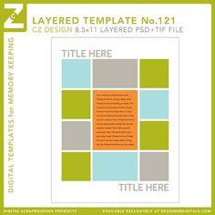Cathy Zielske's Layered Template No. 121 - Digital Scrapbooking Templates - Cathy Zielske